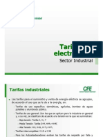TarifasElectricasCFE Sector Industrial