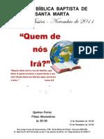 Cartaz Mês de Missões