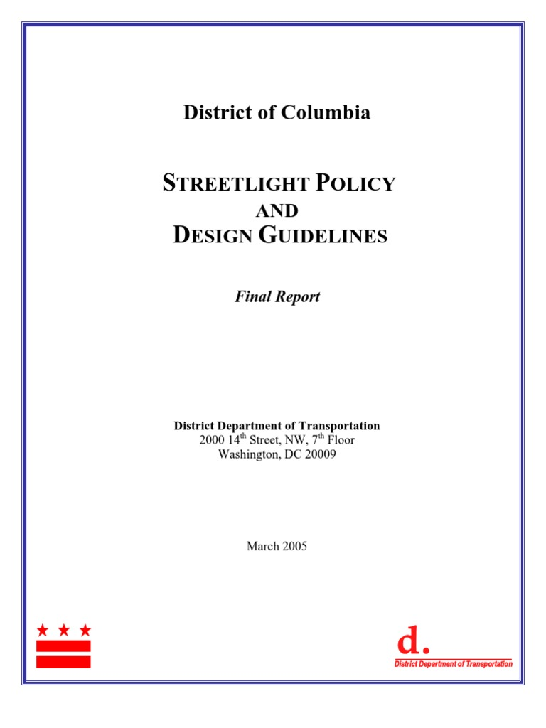 DC Streetlight Policy and Design Guidelines | Traffic | Incandescent Light  Bulb