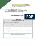 ED4 Biodiversidade e Ecologia Discursiva 1 2011 2