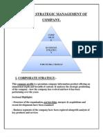 Levels of Strategic Management of Company(1)