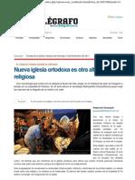 (2) El Telegrafo Nueva Iglesia Ortodoxa Es Otra Alternativa Religiosa EC