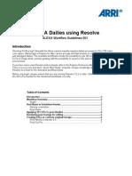 ALEXA Dailies Using Resolve