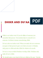 DHIKR AND DU'AA
