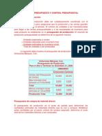 Relaciones de Presupuesto y Control Presupuestal