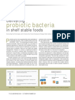 Novel delivery technology for probiotic bacteria
