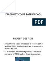 DIAGNOSTICO DE PATERNIDAD