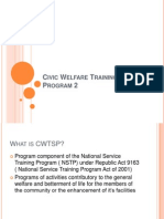 Civic Welfare Training Service Program 2