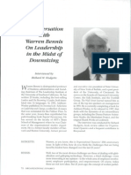 A Conversation With Warren Bennis on Leadership in the Midst of Downsizing