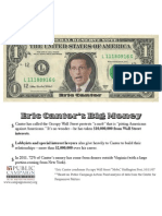 Cantor Protest Flyer