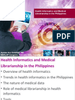 Health Informatics and Medical Librarianship in the Philippines
