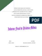 Informe Final de Práctica médica