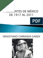 PRESIDENTES DE MÉXICO POR HOMAR-SQUEAL