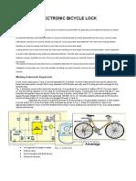 Eletronic Bicycle Lock