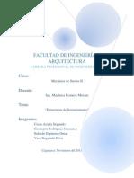 Informe Estructuras de Sostenimiento