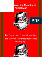 Santa Shares the Meaning of Christmas PowerPoint