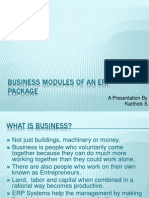 Business Modules of an ERP Package Kar