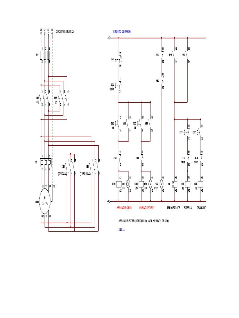 Arancador Estrella Triangulo Con Inversor De Giro Corriente Eléctrica Energia Electrica