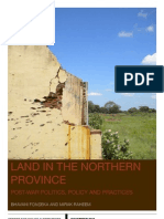 Land Issues in the Northern Province Post War Politics Policy and Practices