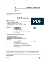 UNFCCC Daily Programme - 7th December