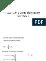 Adsorción y Carga Eléctrica en Interfases