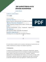 Diagnóstico del control interno en la facultad de ciencias económicas