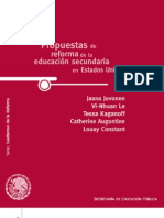 Propuesta de reforma de la educación secundaria en EU