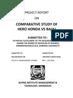 Bajaj vs Hero Honda Final Report