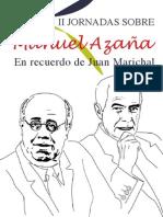 Programa II Jornadas Manuel Azaña