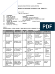 Pefrormance Agreement Form Pm01-Sample e