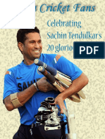 Celebrating Sachin Tendulkar's 20 Glorious Years