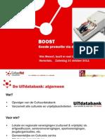 Goede promotie via de UiTdatabank