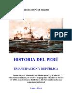 Historia Del Peru - Emancipacion y Republica