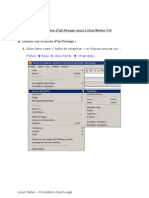 Lotus Notes_Archivage - FR
