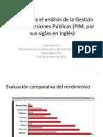 Marco para el análisis de la Gestión de las Inversiones Públicas (PIM, por sus siglas en inglés)