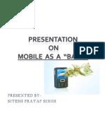 Mobile as a Bank