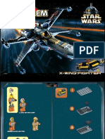 LEGO X-wing Fighter Instruction Manual 7142