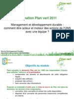 Formation Plan Vert 2011