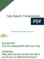 Wright University Tabu Search Part1
