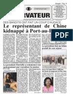 Haiti-Observateur du 7 decembre 2011