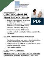 Cartel Certificado Profesionalidad Benahadux
