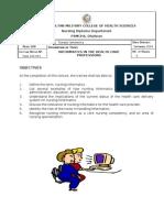 NURS 100.001 tics in the Health Care Prof Fess Ions