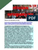 Noticias Uruguayas Martes 6 de Diciembre de 2011