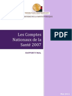 Les Comptes Nationaux de la Santé 2007 (MINSANP - 2011)