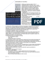 Executive Book Summary the 17 Essential Qualities of a Team Player