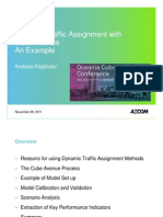 1.5 - Dynamic Traffic Assignment With Cube Avenue - An Example