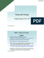 Fisika Dasar I Kerja & Energi