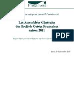 Rapport annuel Proxinvest sur les AG 2011