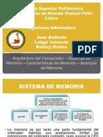 Sistemas Memorias Arquitectura or