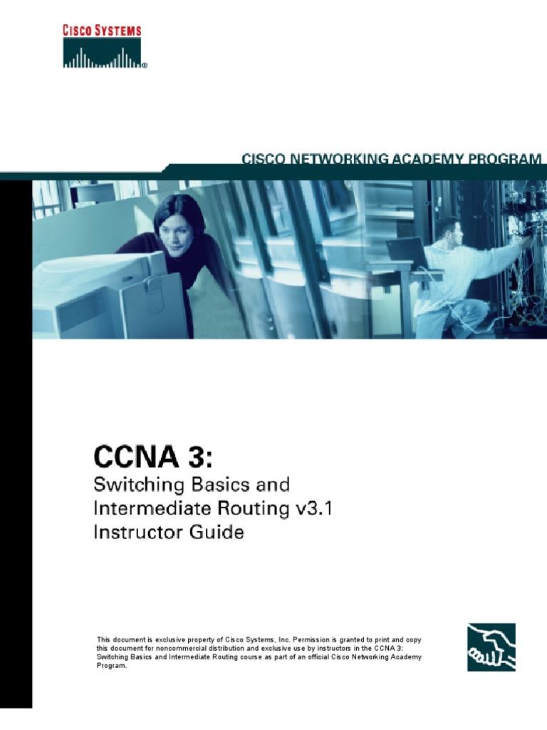 CCNA3_IG_v31_092605 | Cisco Certifications | Routing